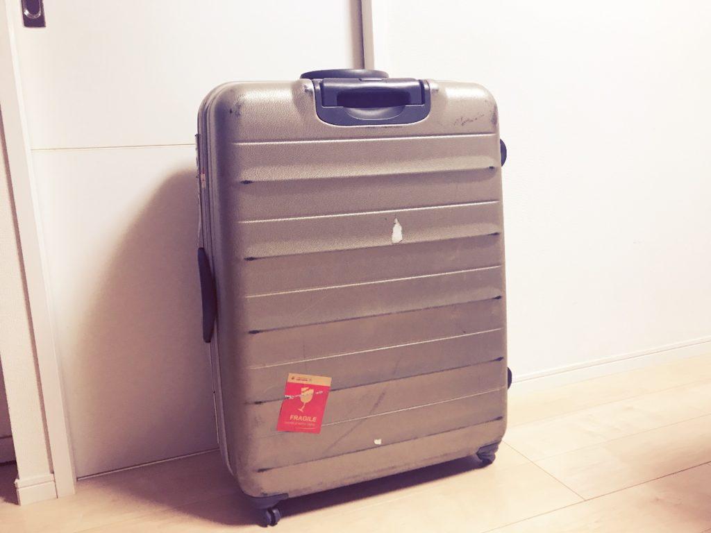 初めての海外旅行の時に母に買ってもらったスーツケース