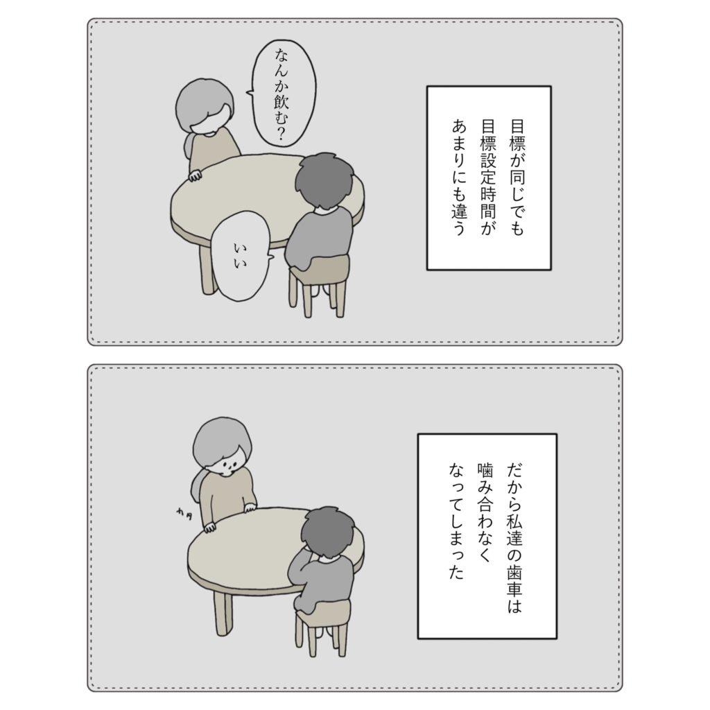 設定時間が違う イラスト 漫画 かわいい 手書き  旦那 夫婦