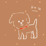 ゴールデンレトリーバー 犬のイラスト