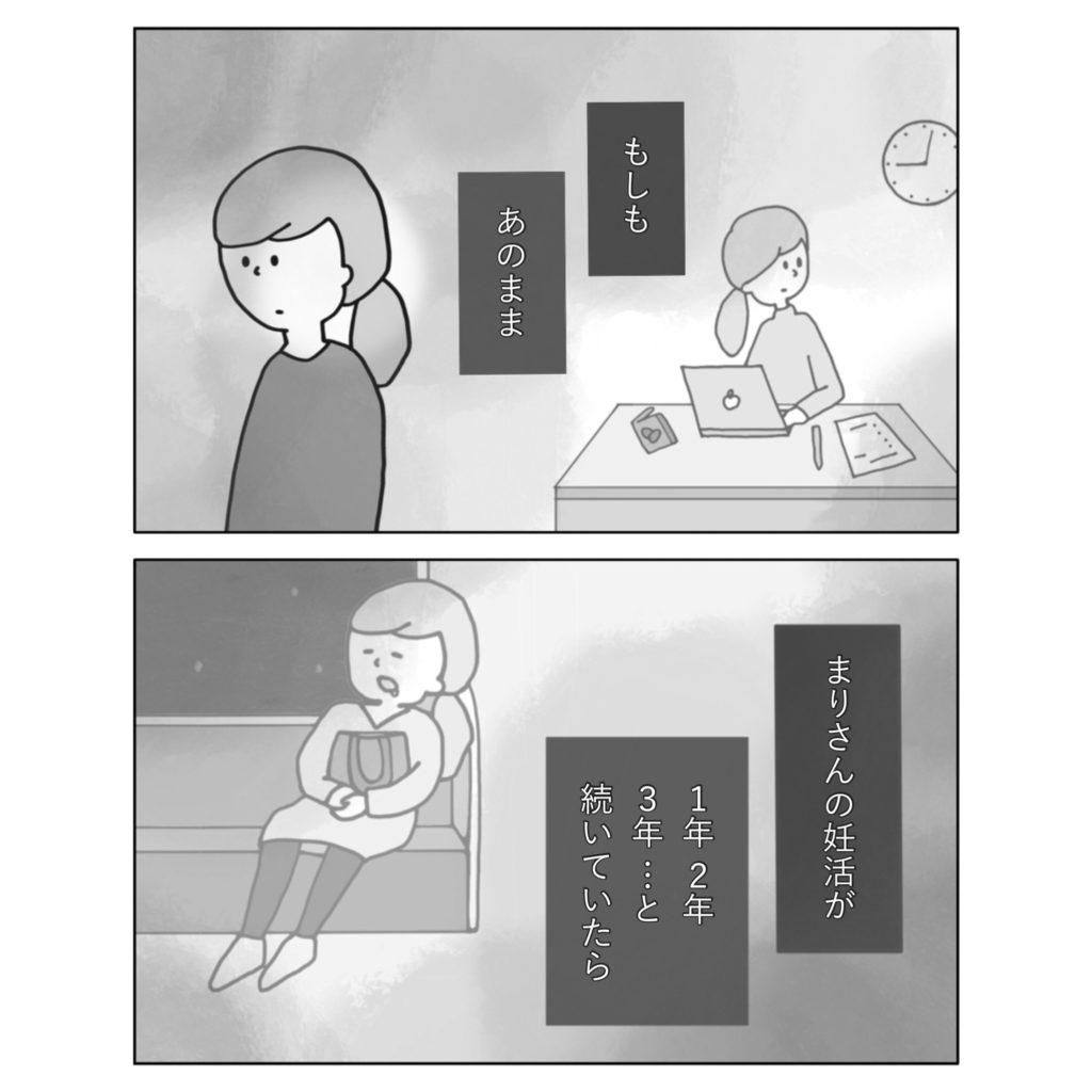 もしもあのまま まりさんの妊活が 支えられる 働く 辛い 女性 女の子 まんが いらすと イラスト 漫画