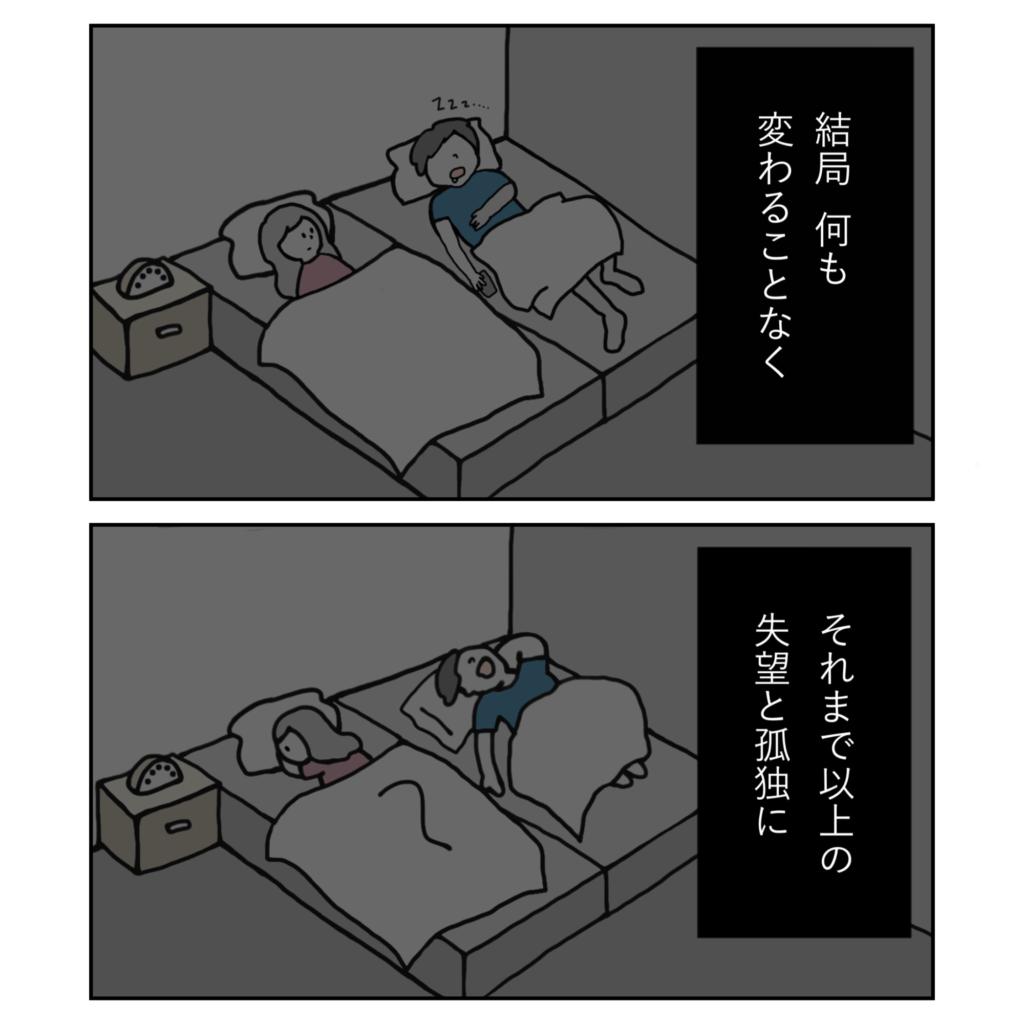 旦那 寝る イライラ 悲しい 女の子 女性 イラスト 漫画