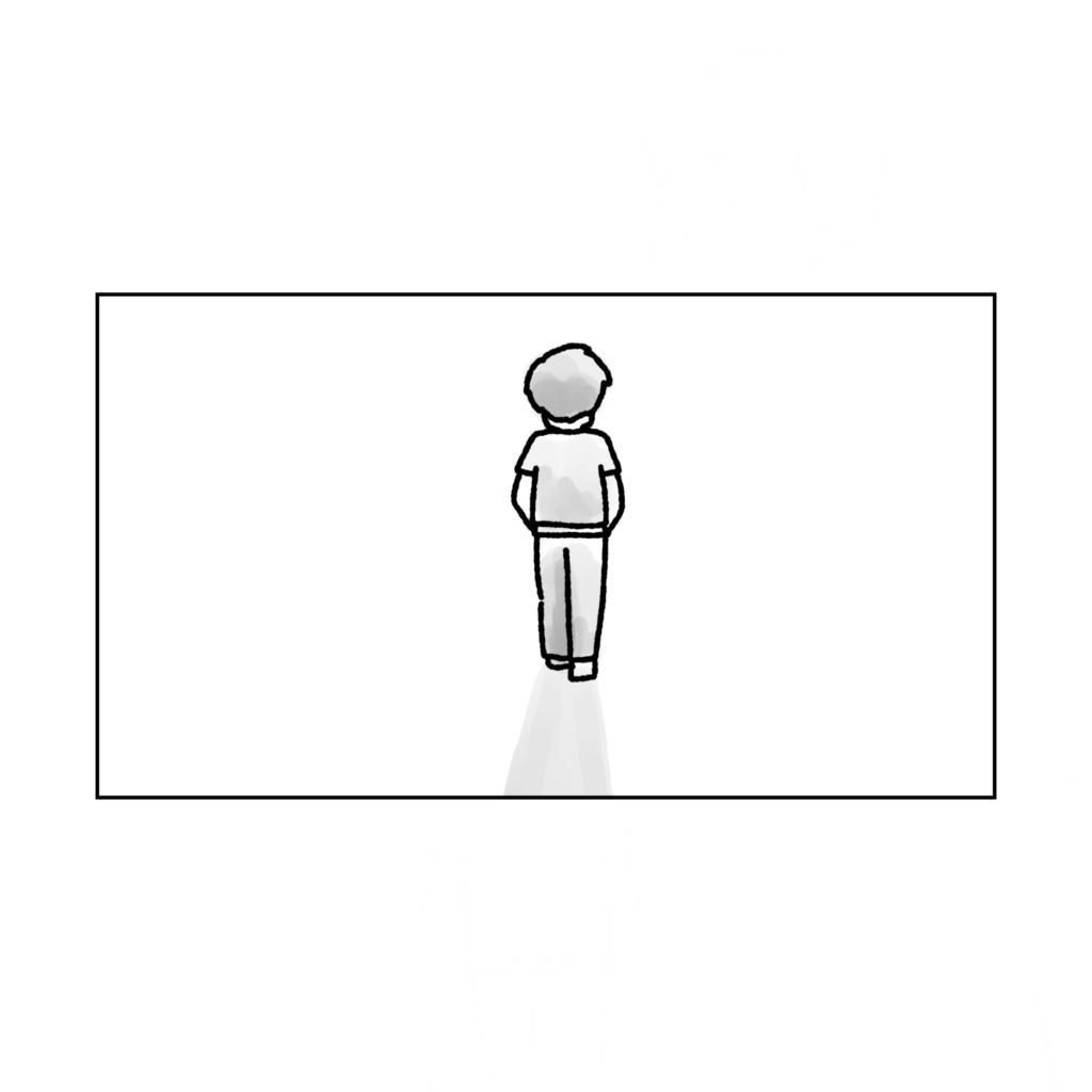 旦那の歩く後ろ姿  夫婦 アラサー こなし夫婦 子供欲しい DINKS 離婚危機  女性 イラスト 漫画 いらすと