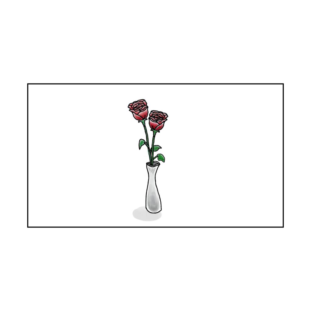 バラのかびん カフェ 考え事 悩み 一人かふぇ 女性 イラスト 漫画 いらすと