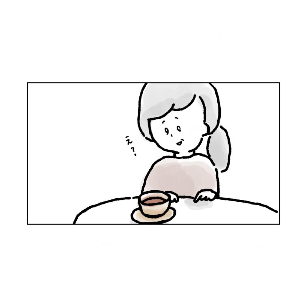えっ? カフェ 考え事 悩み 一人かふぇ 女性 イラスト 漫画 いらすと