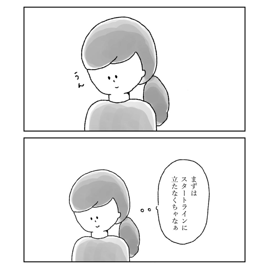 まずはスタートラインに立たなくちゃ 女の子 女性 イラスト 漫画 いらすと