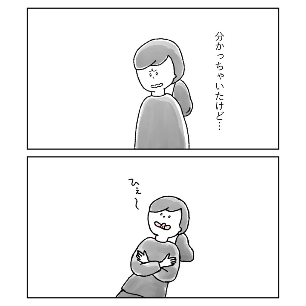 わかっちゃいたけど・・・ ひぇー! 女の子 女性 イラスト 漫画 いらすと