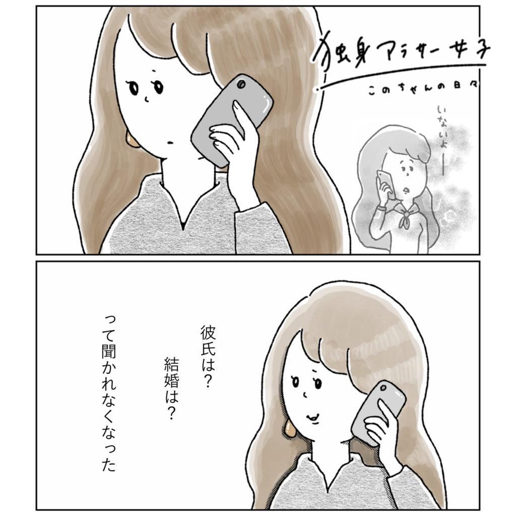 電話をする 実家 アラサー女子 イラスト