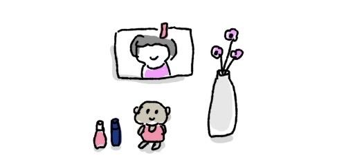 手作りの祭壇 アラサー 女の子 イラスト 漫画 四コマ 女性