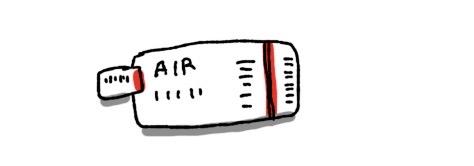 飛行機のチケット ちょっと疲れた アラサー 女の子 イラスト 漫画 四コマ 女性