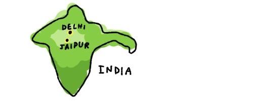 インド ジャイプールデーリー