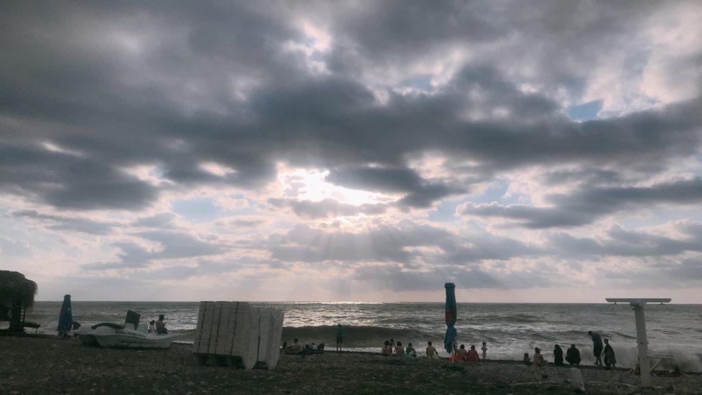 ジョージアバトゥミの海