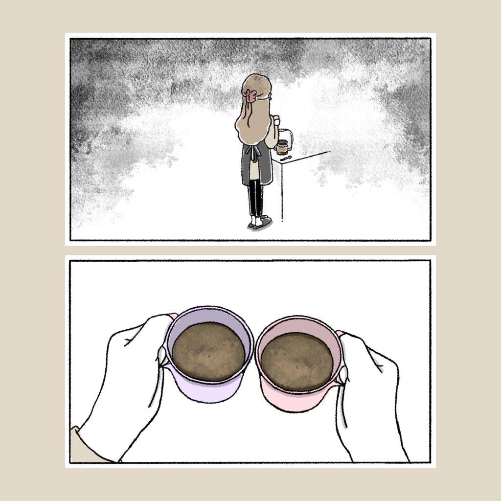 後ろ姿 アラサー女 女の子 女子 イラスト 漫画